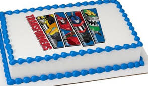 transformers cake decorations one team one mission edible cake decoration topper image