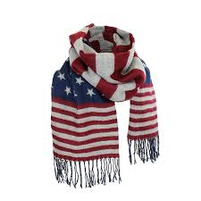 Maroon And White Flag Women U0027s Winter American Flag Fringed Shawl Red White And Blue