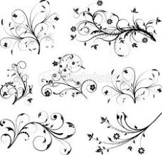 swirl tattoo designs for girls floral silhouette element for