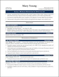 human resource resume exles hr generalist resume objective exles of resumes sle