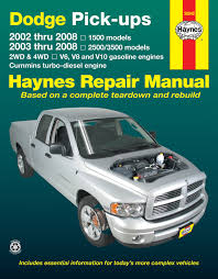 Dodge Ram Cummins 2002 - dodge full size 1500 02 08 u0026 2500 3500 03 08 with v6 v8 u0026 v10