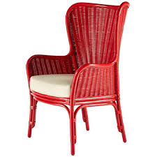 Outdoor Wingback Chair Wing Back Rattan Chair U2013 Red Scenario Home