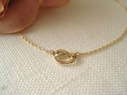 best flower girl gifts tiny gold knot necklace simple handmade jewelry everyday bridal