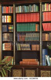 Tall Dark Wood Bookcase Books Shelves Library Display Stock Photos U0026 Books Shelves Library