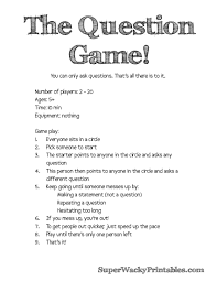 Halloween Printable Games The Question Game U2013 Simple And Hilarious Free Printable