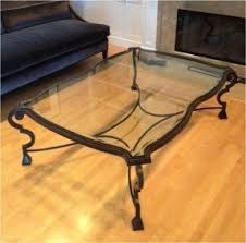 Glass Coffee Table Online by Wrought Iron And Glass Coffee Tables Foter