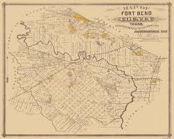 Tx Counties Map Old County Map Fort Bend Texas Landowner 1882