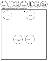 circumference of a circle worksheets calculate circumference and