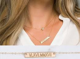 tiny monogram necklace personalized layered tiny dot bar necklace bar monogram
