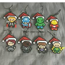 marvel figures ornaments perler by burritoprincess