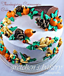 thanksgiving cornucopia cake