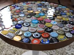 beer cap table top bottle cap table bottle designs