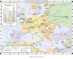 Wwii Map Of Europe by World War 2 In Europe And North Africa Map Roundtripticket Me
