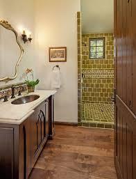 Craftsman Bathroom Vanities Tile Floors With Backsplash Bathroom Mediterranean And Craftsman