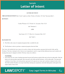 Letter Of Intent For Commercial Lease Sample by 4 Letter Of Intent To Purchase Property Template Purchase