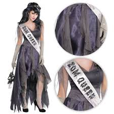 Details About Ladies Homecoming Queen Prom Zombie Halloween Fancy