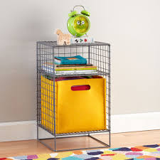 grey on the grid 2 cube nightstand the land of nod