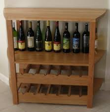 archaic brown color wooden wine rack features close angle shape