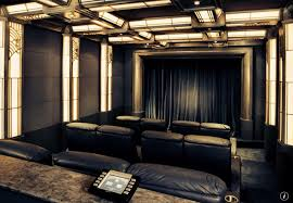 deco home theater with crown molding wainscoting zillow