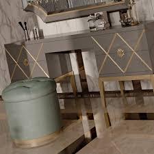 Art Deco Inspired Italian Designer  Drawer Dressing Table - Designer dressing tables