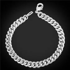 hand bracelet men images Gold silver black color bracelets trendy 21cm 6mm cuban link hand jpeg