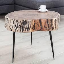 Wohnzimmertisch Voglauer Couchtisch Goa 60cm Akazie Massivholz Dreibein Baumstamm