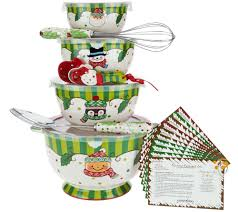Baking Whisk by Temp Tations Set Of 4 Winter Whimsy Bowl Set Page 1 U2014 Qvc Com