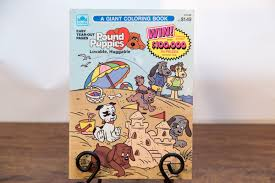 pound puppies golden giant coloring book