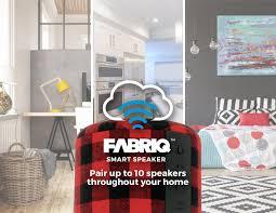 amazon com fabriq portable wi fi and bluetooth smart speaker with
