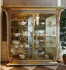 antique display cabinets with glass doors luxury french baroque style golden four door glass display cabinet