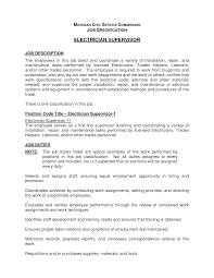 Resume Electrician Sample Responsibilities Of An Electrician Words To Use When Writing An