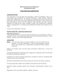 It Technician Job Description Sample Best Photos Of Electrician Job Description Electrician Job