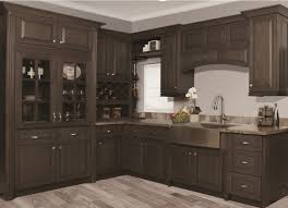 maple wood cool mint glass panel door grey stained kitchen