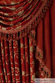 Swag Valances Louis Xvi Royal Red Classic Overlapping Style Chenille
