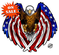 Us Flag Decal American Flag Eagle Wings Decal Nostalgia Decals