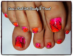 bright flowers toe nail design youtube