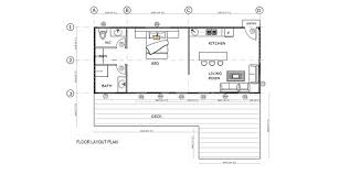 1 Bedroom Design Shipping Container Home Floorplans