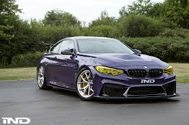 dark purple porsche ultraviolet purple bmw m4 build by ind distribution