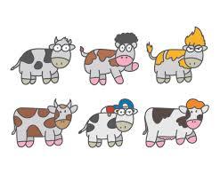 cartoon cow vector vector art u0026 graphics freevector com