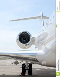 Luxury Private Jets Luxury Private Jet Plane Flying Bombardier Stock Photo Image