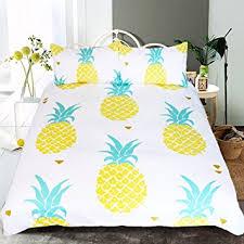 Girls Hawaiian Bedding by Amazon Com Sleepwish Pineapple Bedding Kawaii Duvet Cover 3 Piece