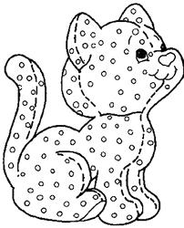 polka dots coloring pages