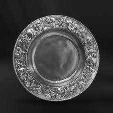 pewter platter embossed pewter centerpiece italian pewter tableware