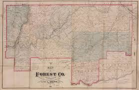 Map Of Harrisburg Pa Forest County 1881 Map