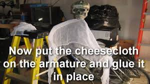cheese cloth ghost tutorial youtube