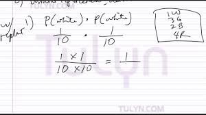 probability of dependent events drawing two marbles without