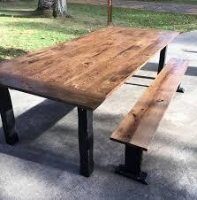 Oak Top Dining Table Oak Top Dining Table Black Distressed Base Tabula Rasa