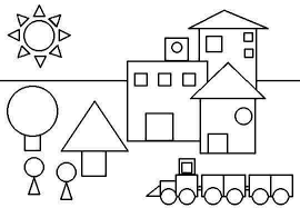 Shapes Coloring Page Funnycrafts Coloring Pages Shapes