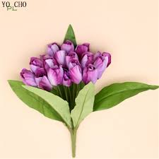 wedding flowers tulips artificial flowers tulips wedding decoration silk tulip real touch