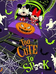 halloween scrubs cherokee disney mickey too cute to spook halloween scrub top